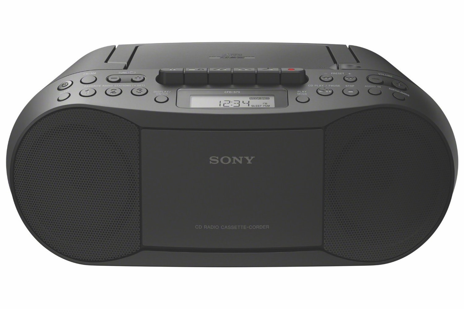 Sony CFD-S70 CD/Casette Boombox with Radio | Black