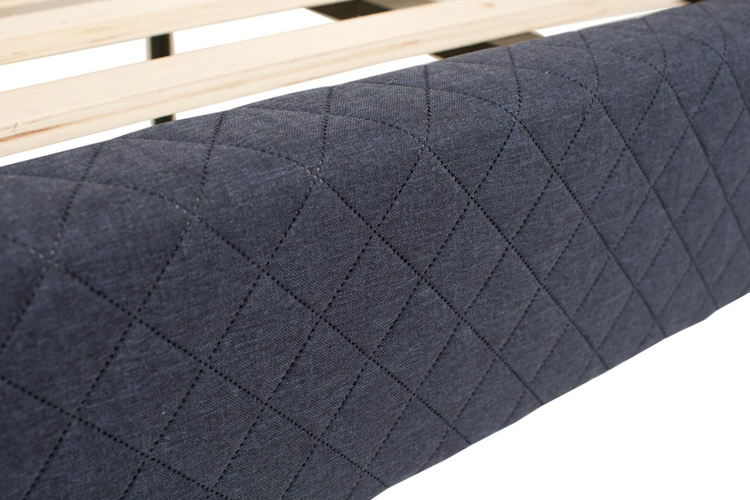 Diamond Bedframe Quilted Navy | 4ft6