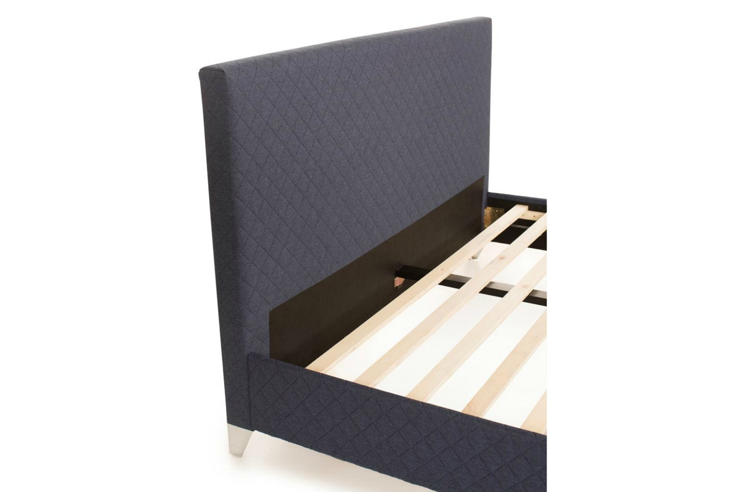 Diamond Bedframe Quilted Navy | 5ft