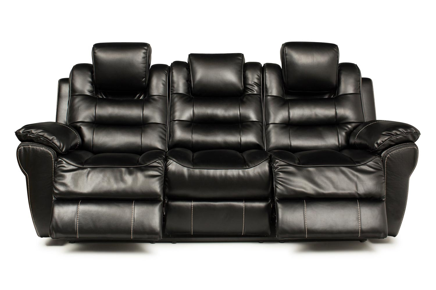 Baxter 3 Seater Twin Electric Recliner | Black