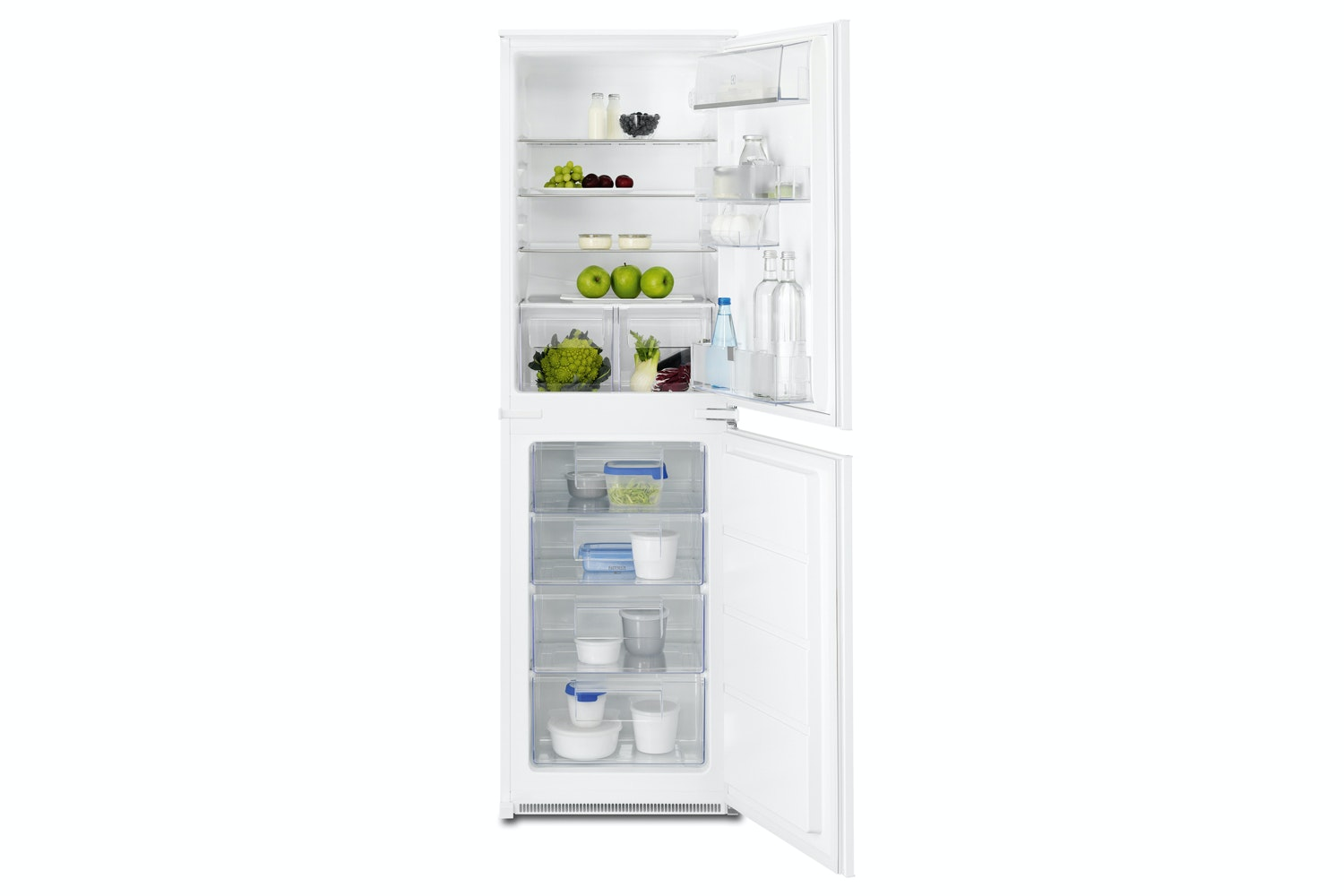 electrolux integrated fridge freezer enn2701aow