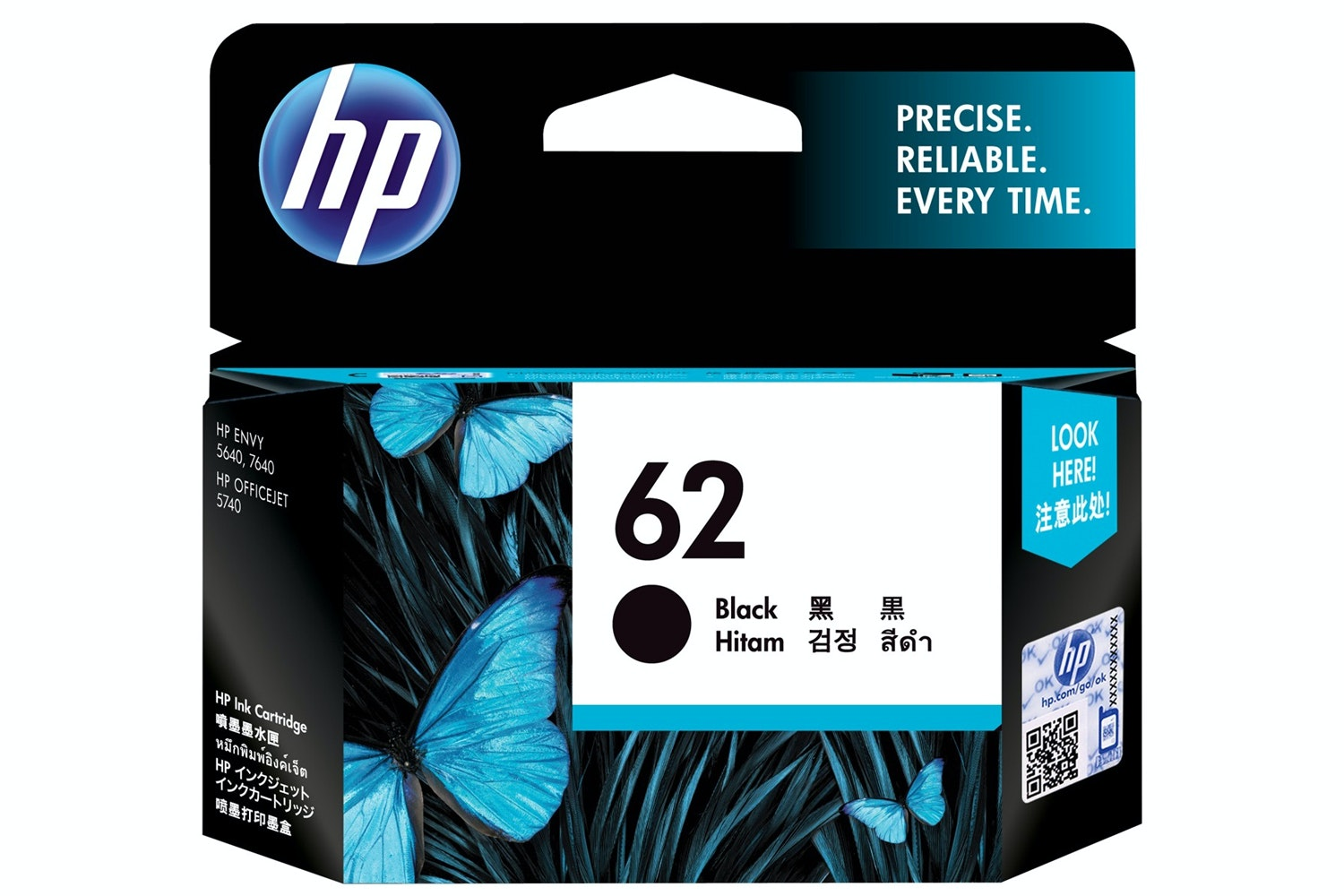 HP 62 Black Ink