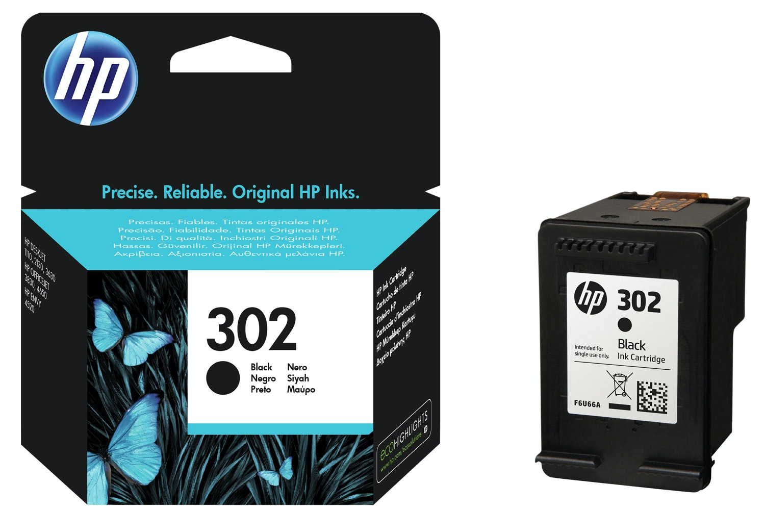 HP 302 Black Ink