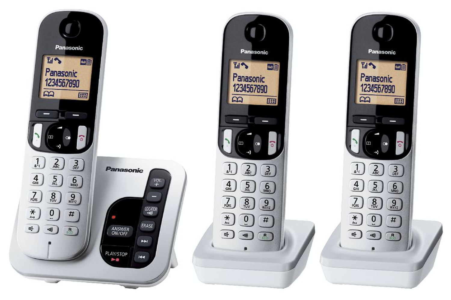 Panasonic Trio Cordless Phone with Answering Machine