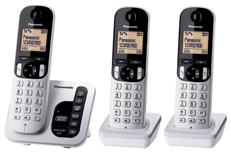 Panasonic Trio Cordless Phone with Answering Machine