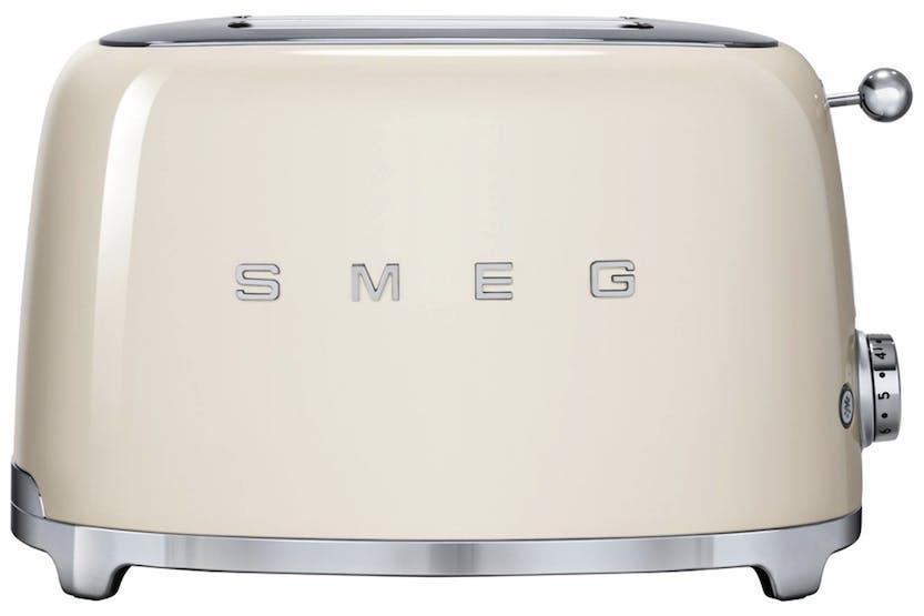 smeg 50 39 s retro style aesthetic 2 slice toaster tsf01cruk cream ireland