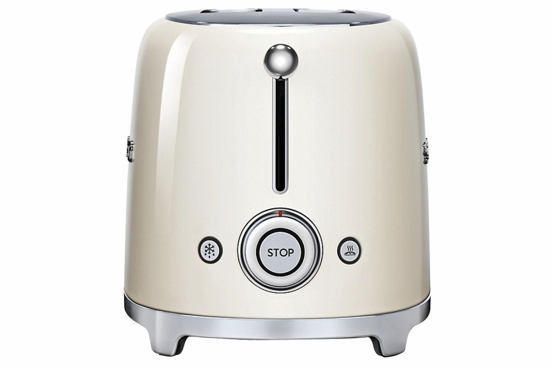 Smeg Retro 2 Slice Toaster | TSF01CRUK |  Cream