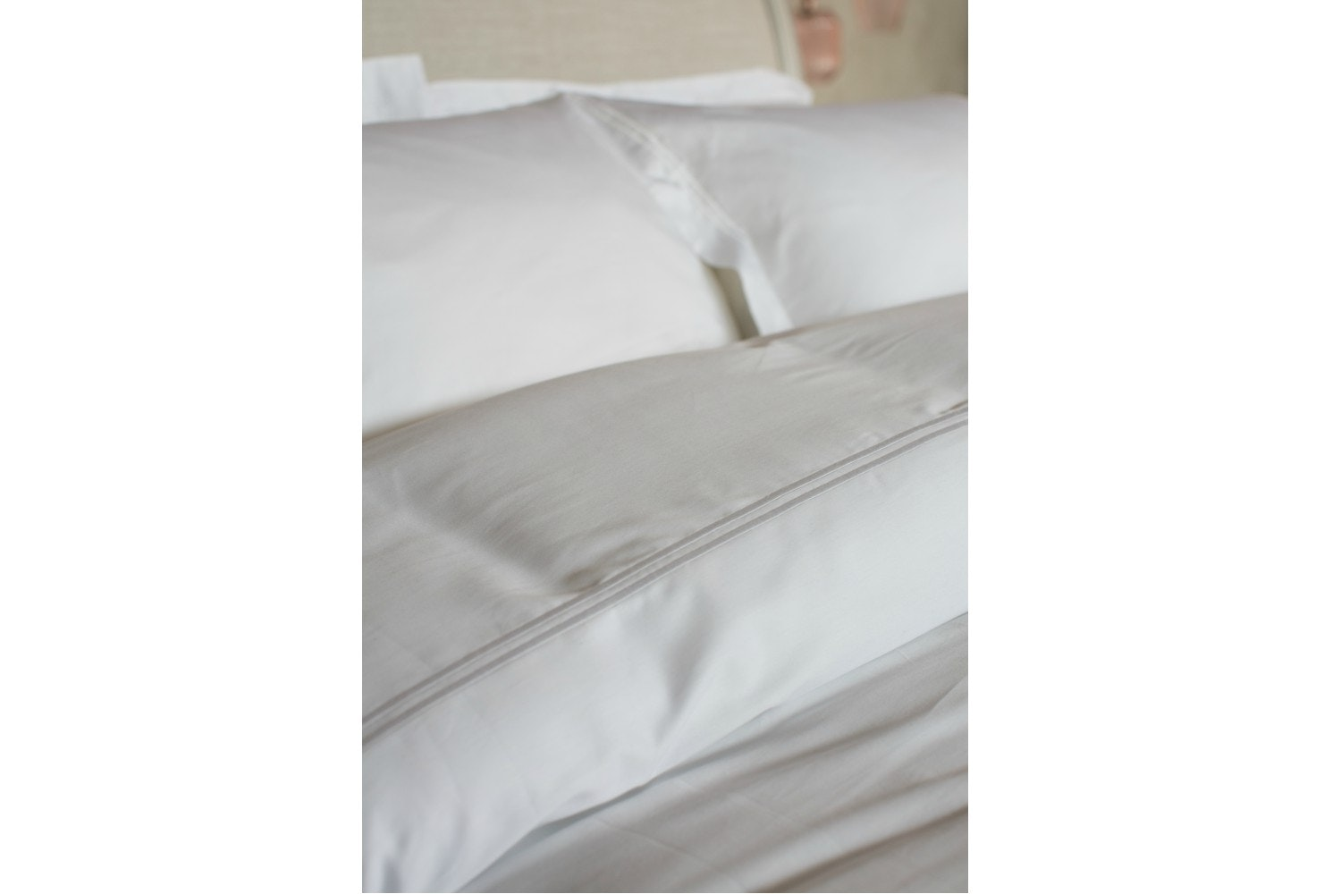 The Linen Room Clara White Duvet Cover | Superking