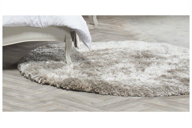 Plush Shaggy Rug Sand 150 X Cm