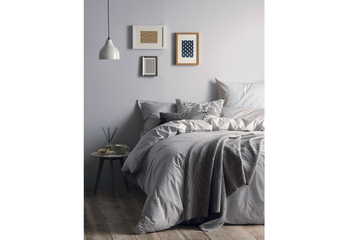 Murmur Mosaic Duvet Cover Grey|Double