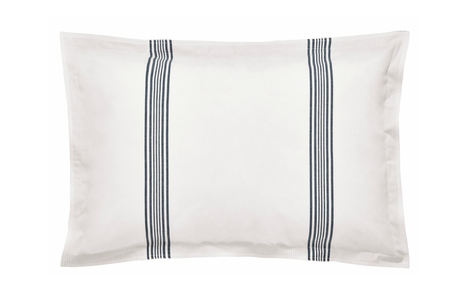 Murmur Broad Stripe Oxford Pillowcase White & Indigo