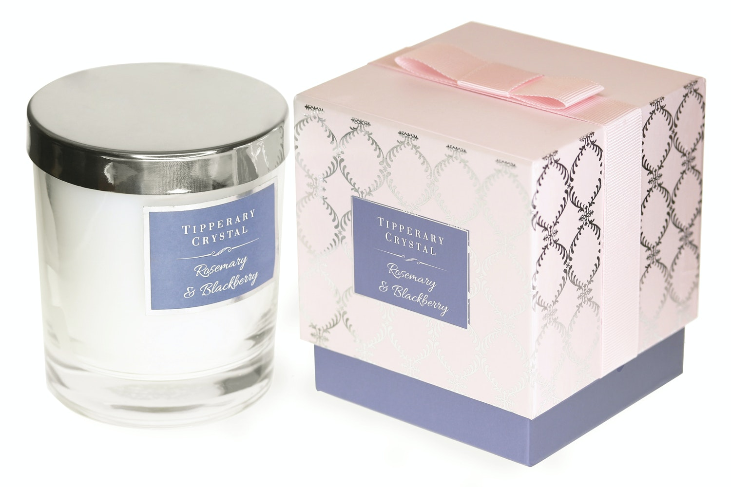 Tipperary Crystal Luxury Candle | Rosemary & Blackberry