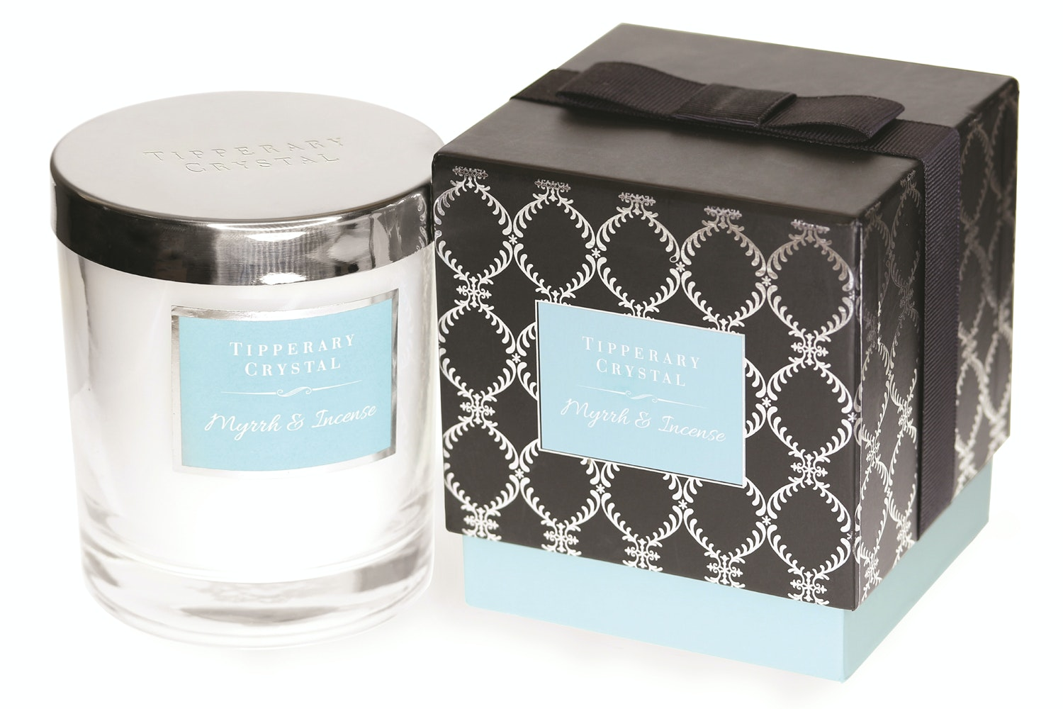 Tipperary Crystal Luxury Candle | Myrrh & Incense