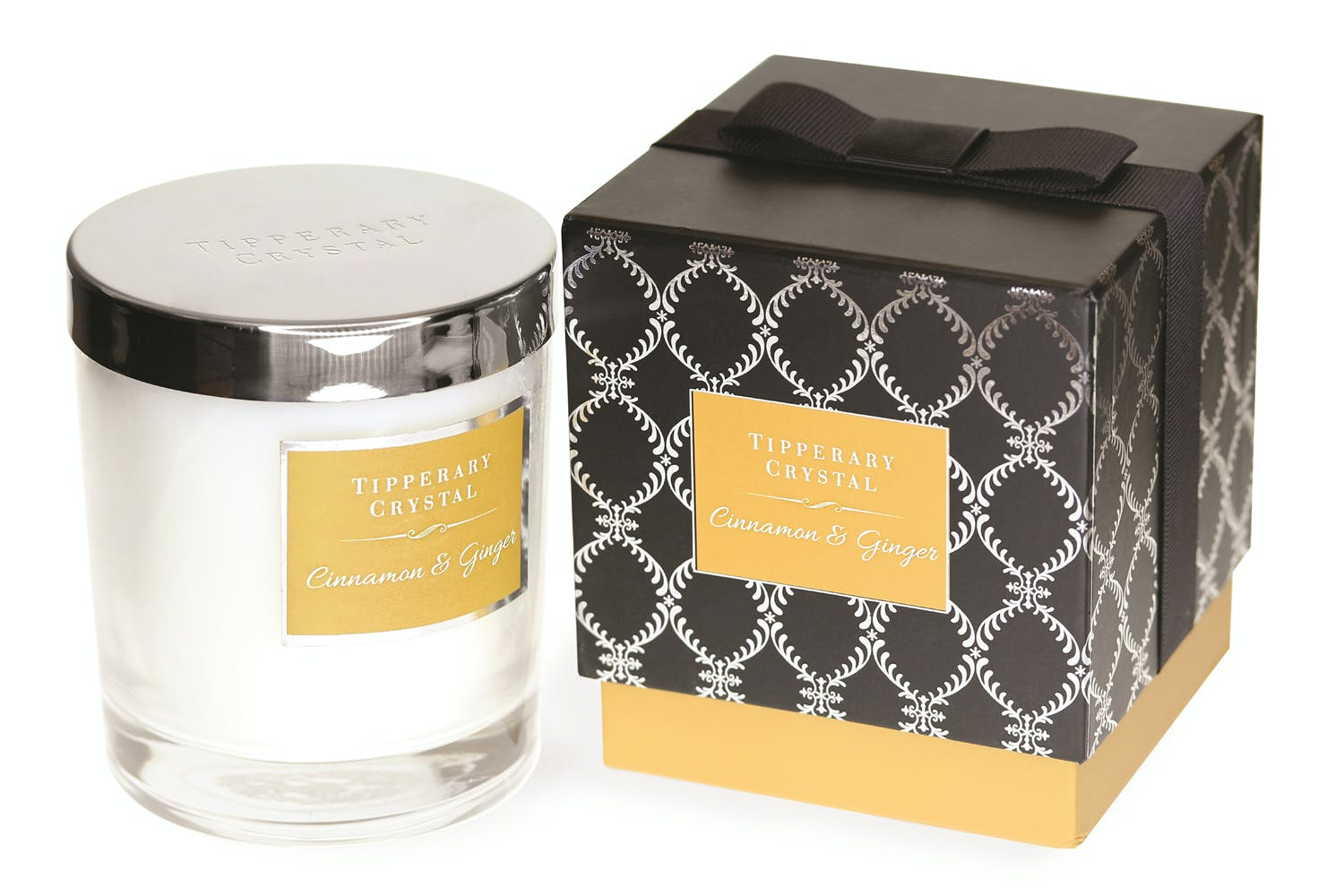 Tipperary Crystal Luxury Candle | Cinnamon & Ginger
