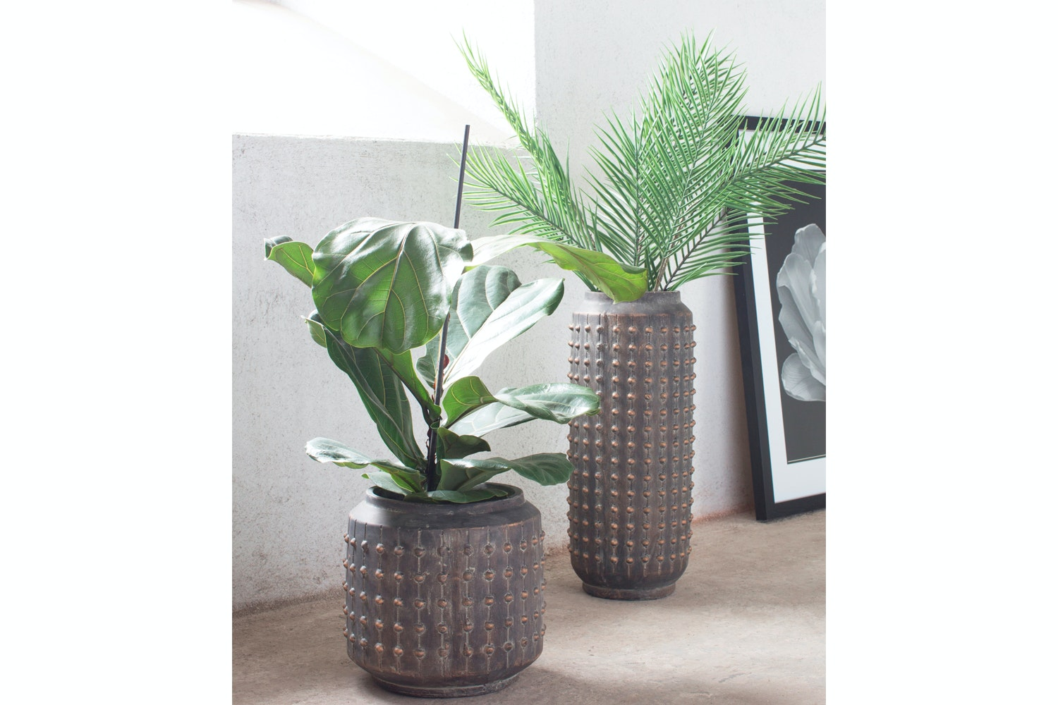Elle Pot Tall Bronze Black