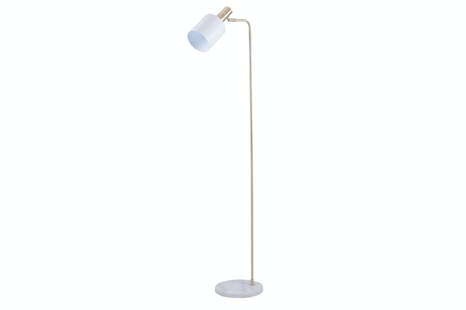 Marble Floor Lamp | White & Gold