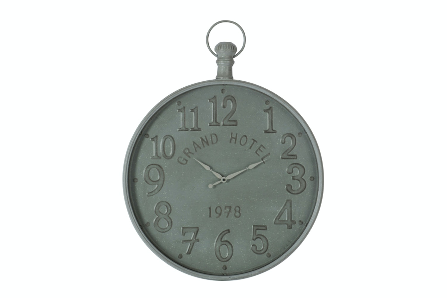 1978 Grand Hotel Clock  in Grey Metal | Small