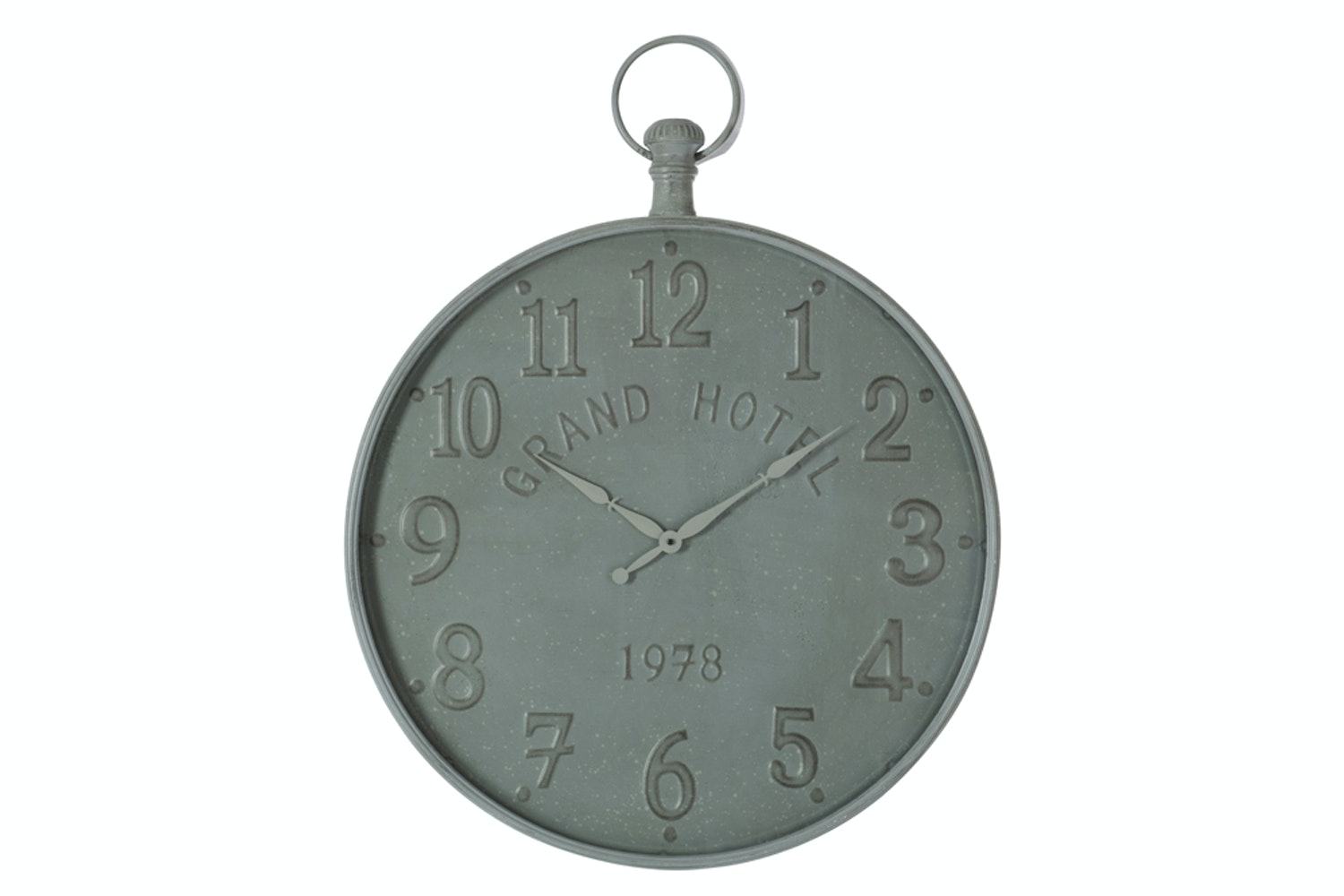 1978 Grand Hotel Clock  in Grey Metal | Large