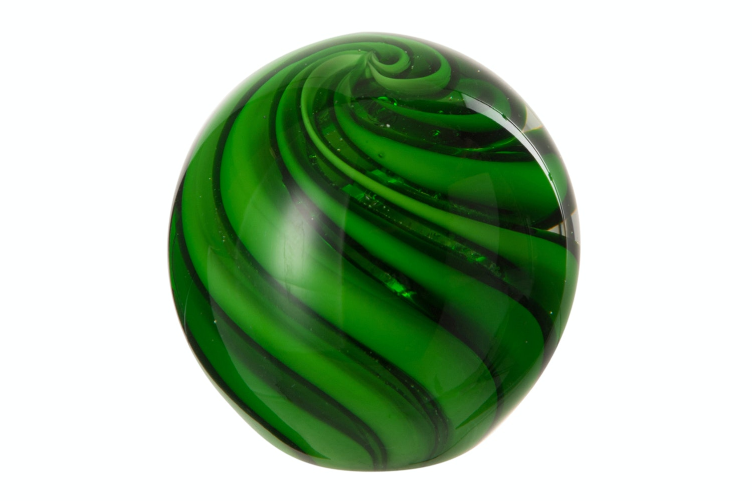 Spiral Paperweight in Green