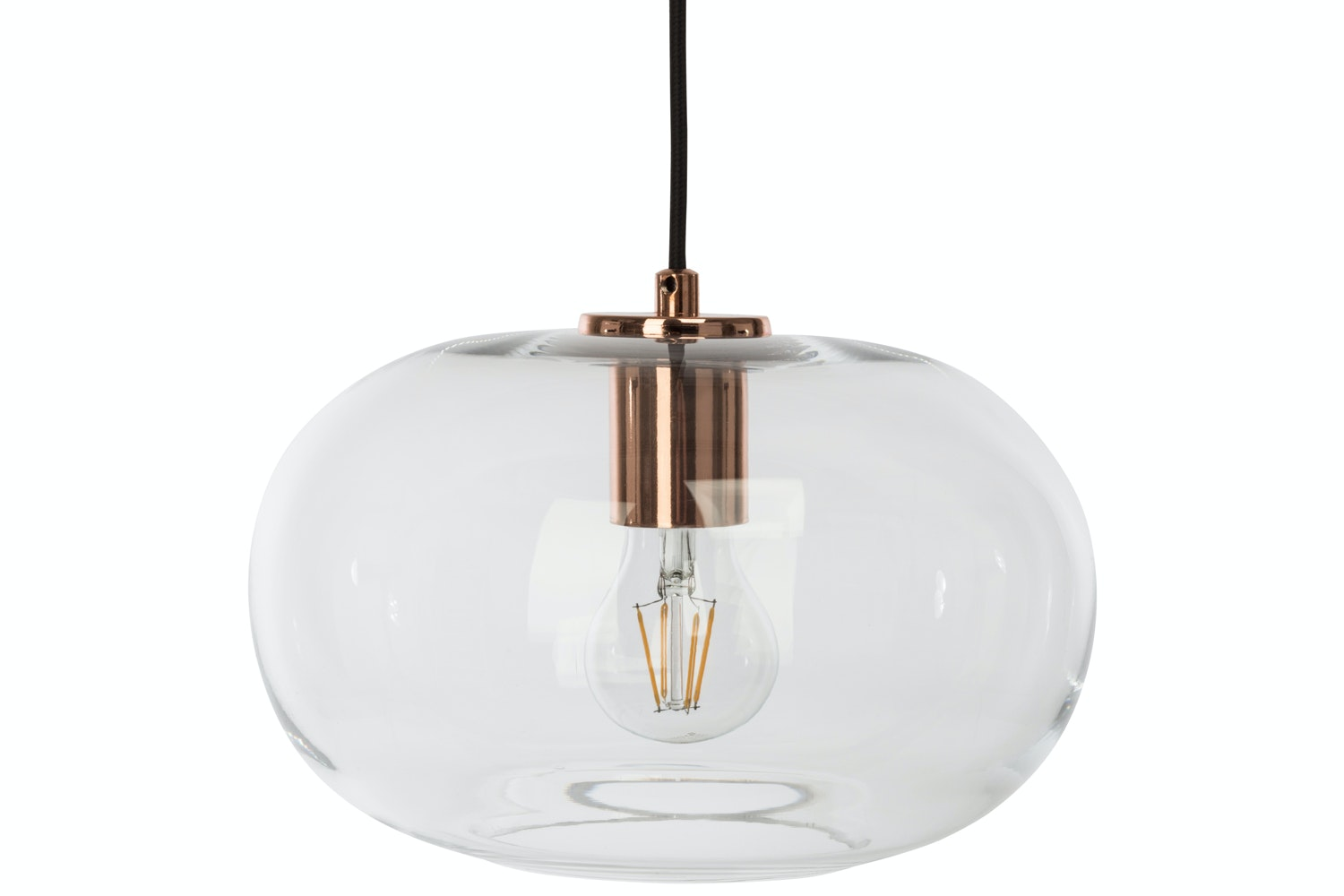 Sandness Copper/Clear Ceiling Glass Light