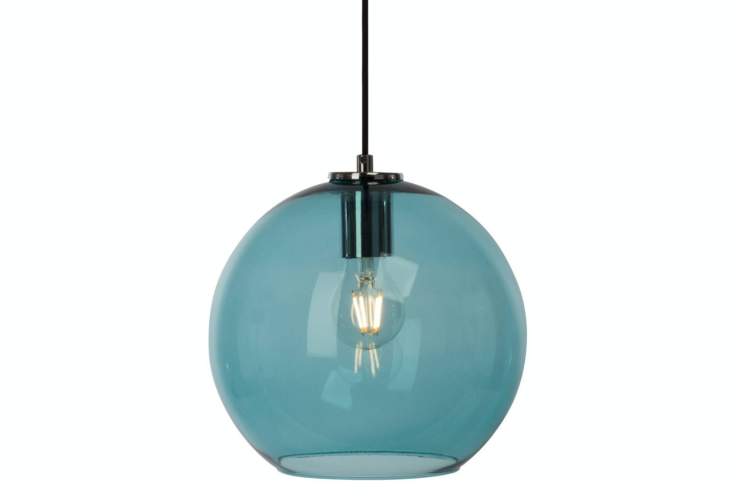 Stockholm Blue Glass Ceiling Light