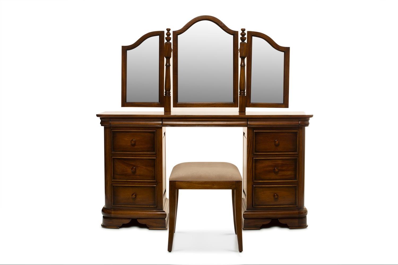 Barouge Dressing Table 9 Drawer|Stool Uplholstered