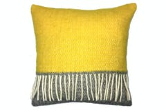 Tweedmill Illusion Panel Cushion | Grey/Yellow