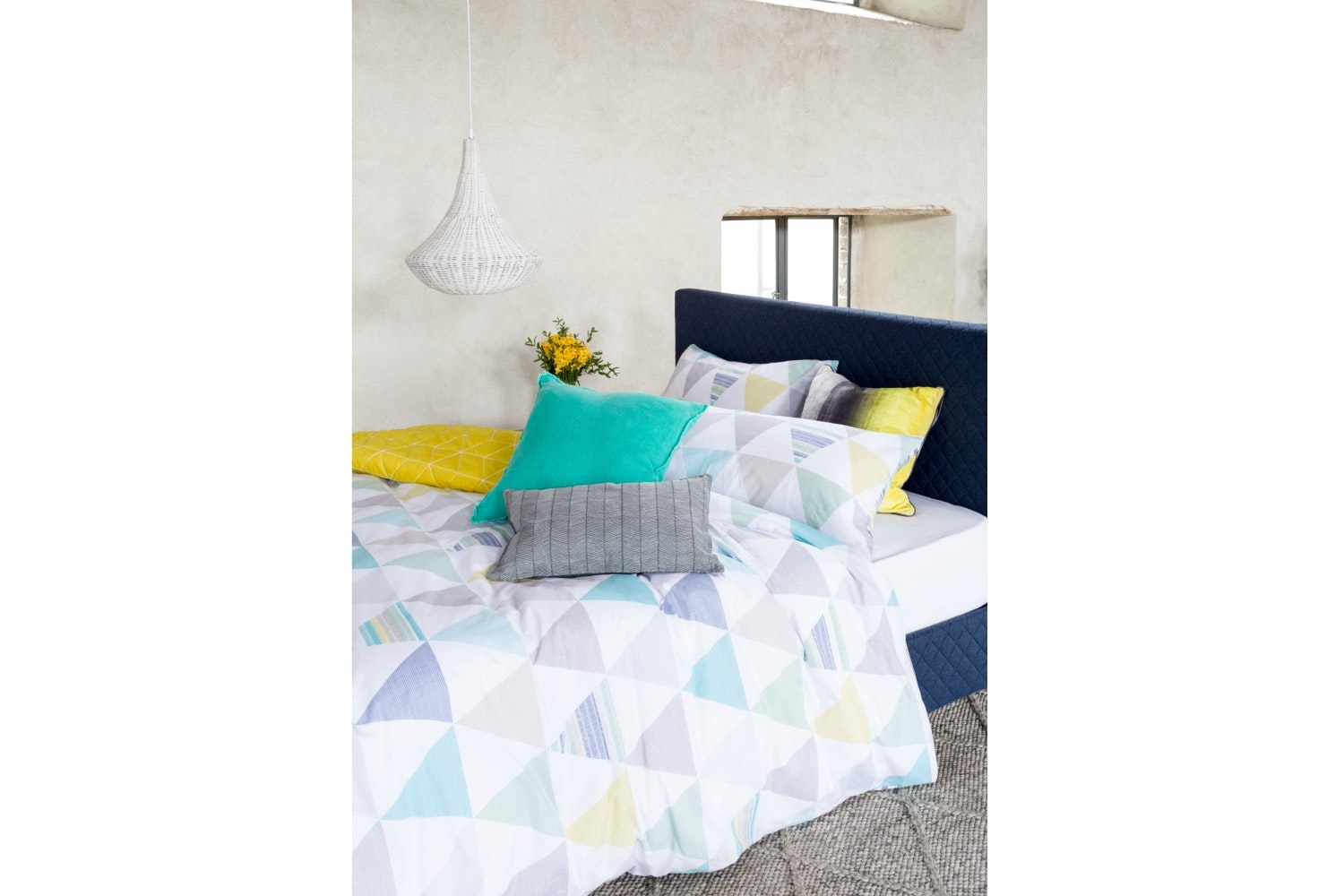 Skandi Geo Green Duvet Cover Set | King