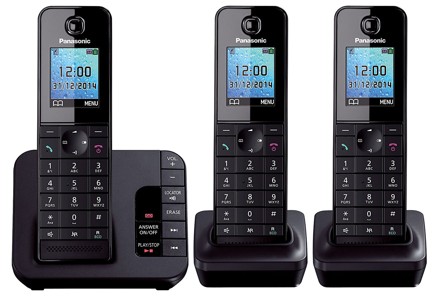 Panasonic Trio Coredless Phone | KXTGH223