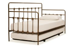 Isaac 3ft Day Bed with Trundle | Bronze