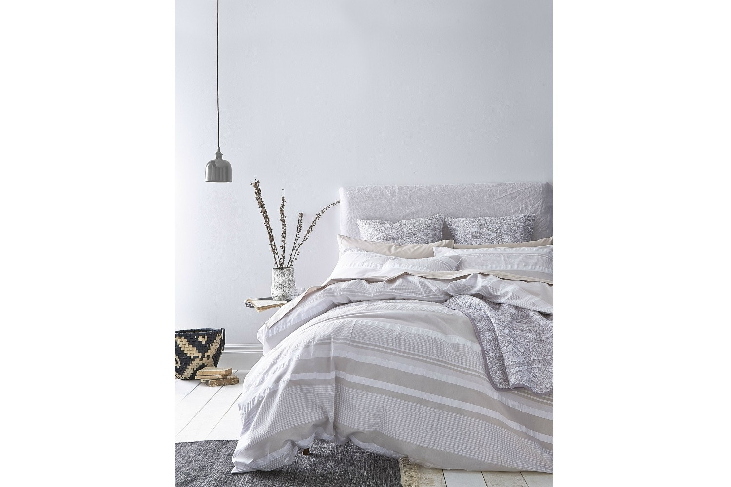 Seersucker Stripe Duvet Cover Set | King