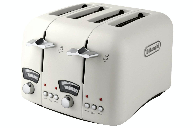 Delonghi Argento 4 Slice Toaster | Cream