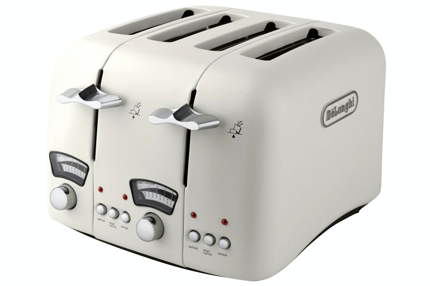 Delonghi Argento 4 Slice Toaster | Cream