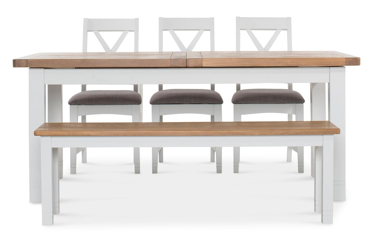 Stupendous Hemsby Dining Set With Bench And 3 Chairs 5 Piece Machost Co Dining Chair Design Ideas Machostcouk