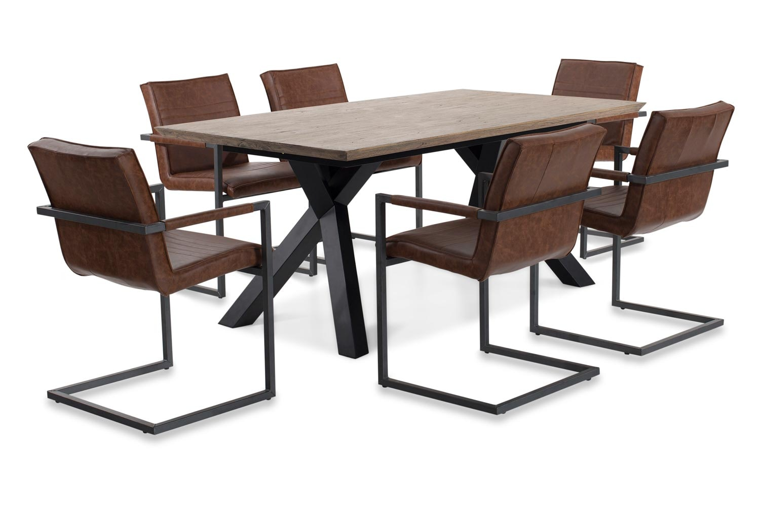 colorado dining set with texas chair 7 piece