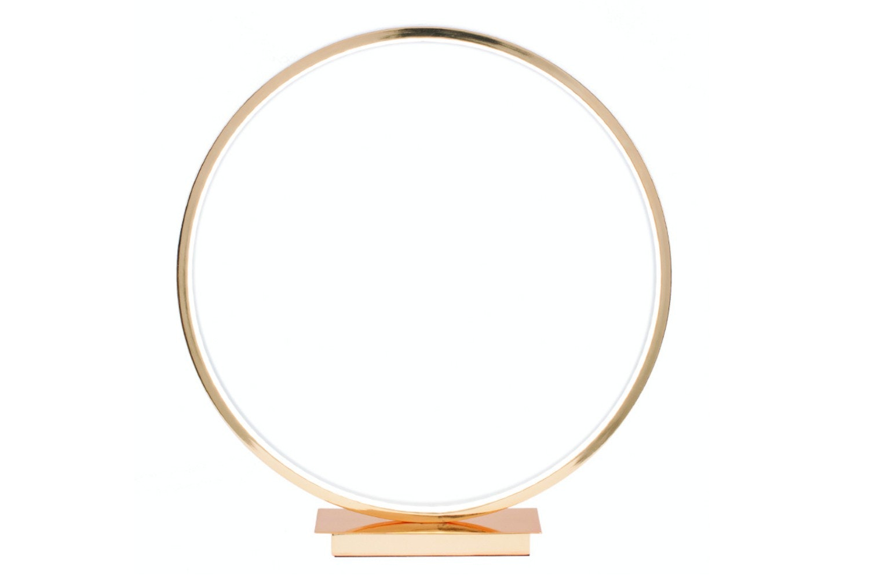 Gold Led Circle Table Lamp