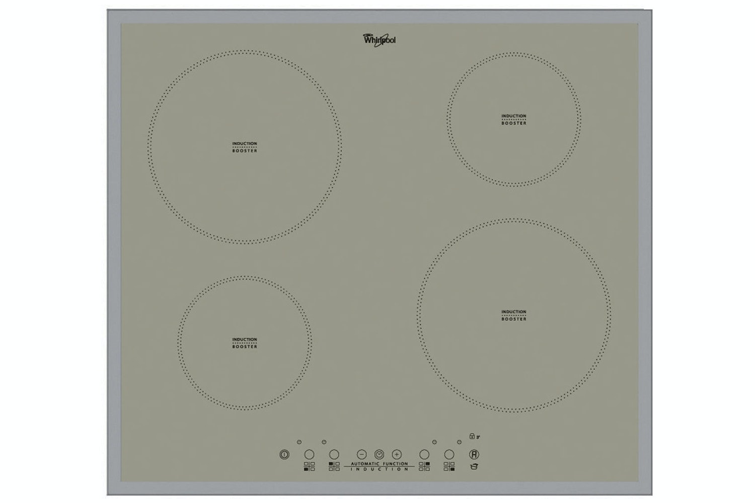 Whirlpool 60cm Induction Hob Silver | ACM804/BA/S