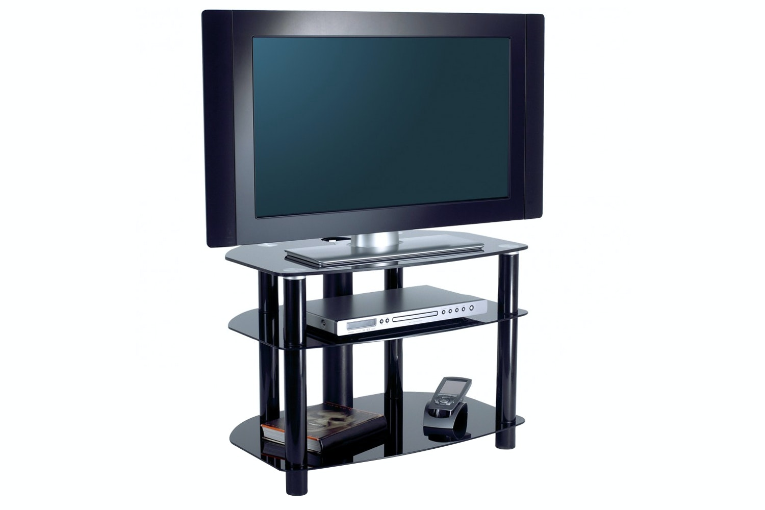 Alphason 710 cm 3 Tier Tv Stand | AVCR32/3BLK