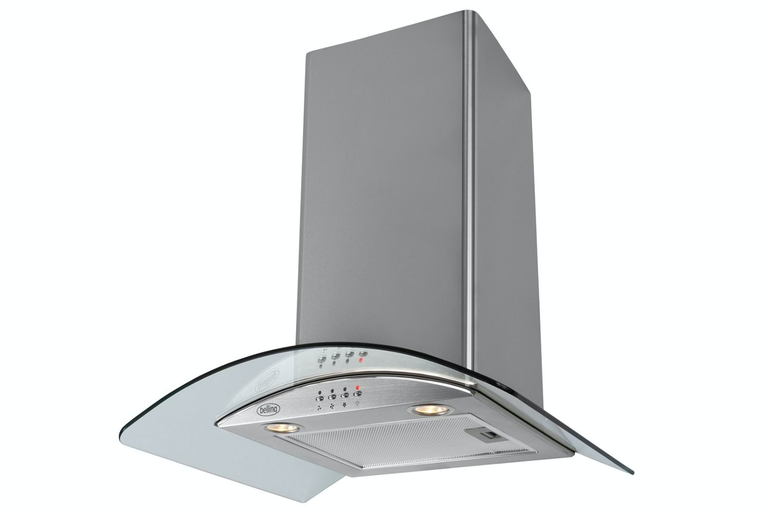 Belling 60cm Curved Glass Hood | CHIM603GSS