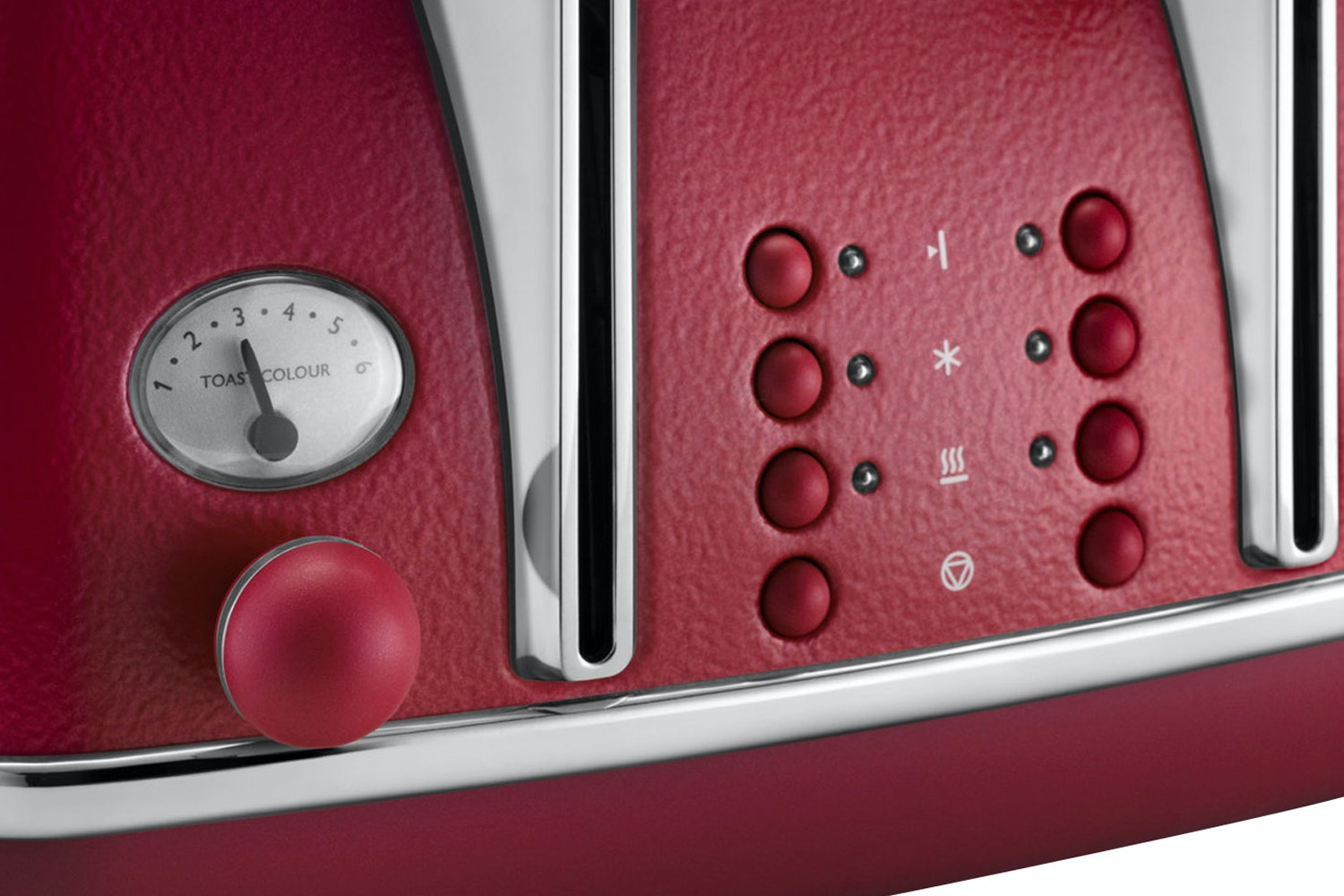 Delonghi 4 Slice Icona Elements Toaster | Red