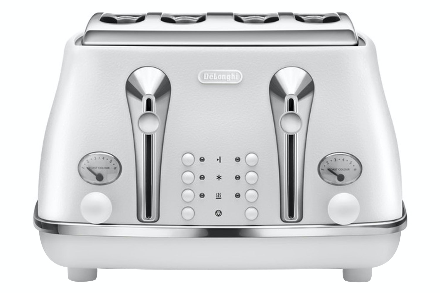 Delonghi 4 Slice Icona Elements Toaster | White
