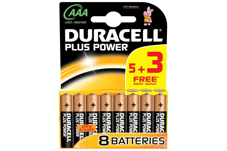 Duracell AAA 5+3 Foc Batteries | DU5000394018815