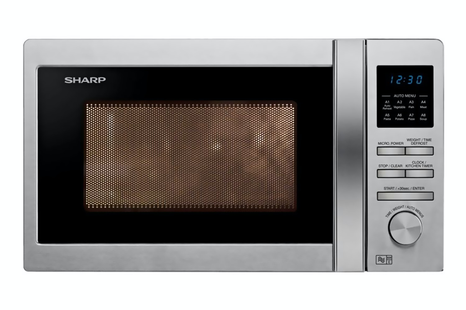 Sharp 25L 900W Microwave | R322STM | Stainless Steel