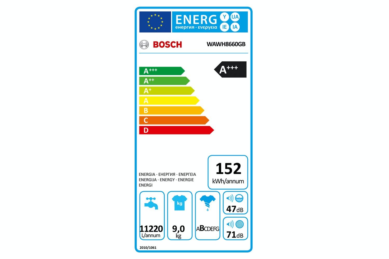 Bosch IDOS Washing Machine 9kg | WAWH8660GB