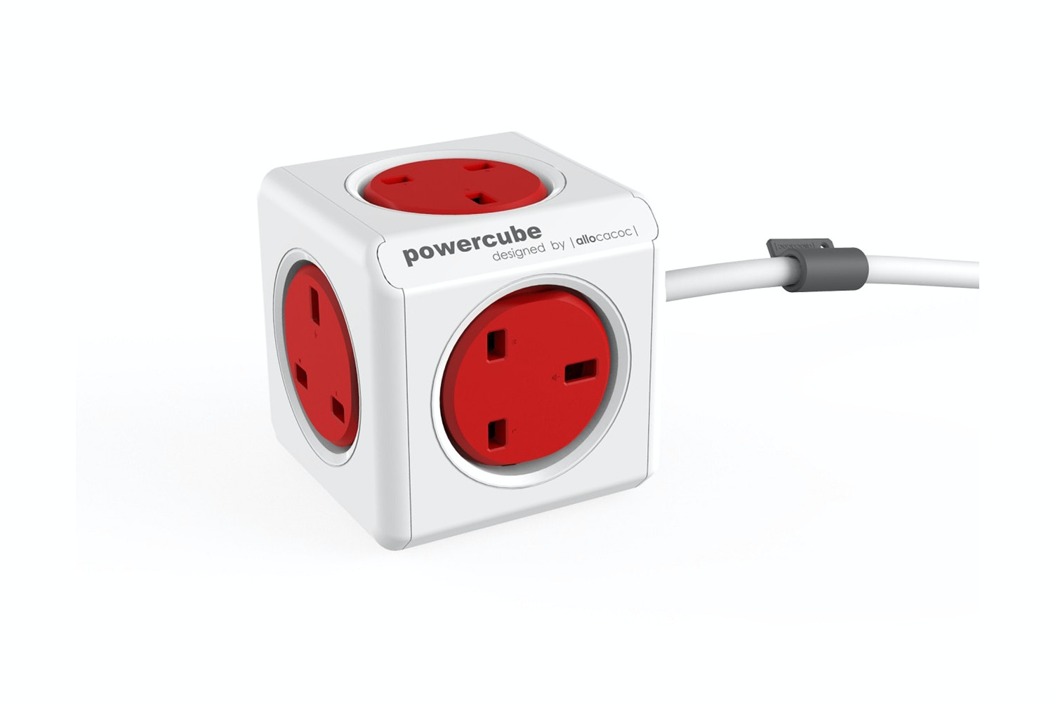 PowerCube Socket with 1.5m Cable | Red
