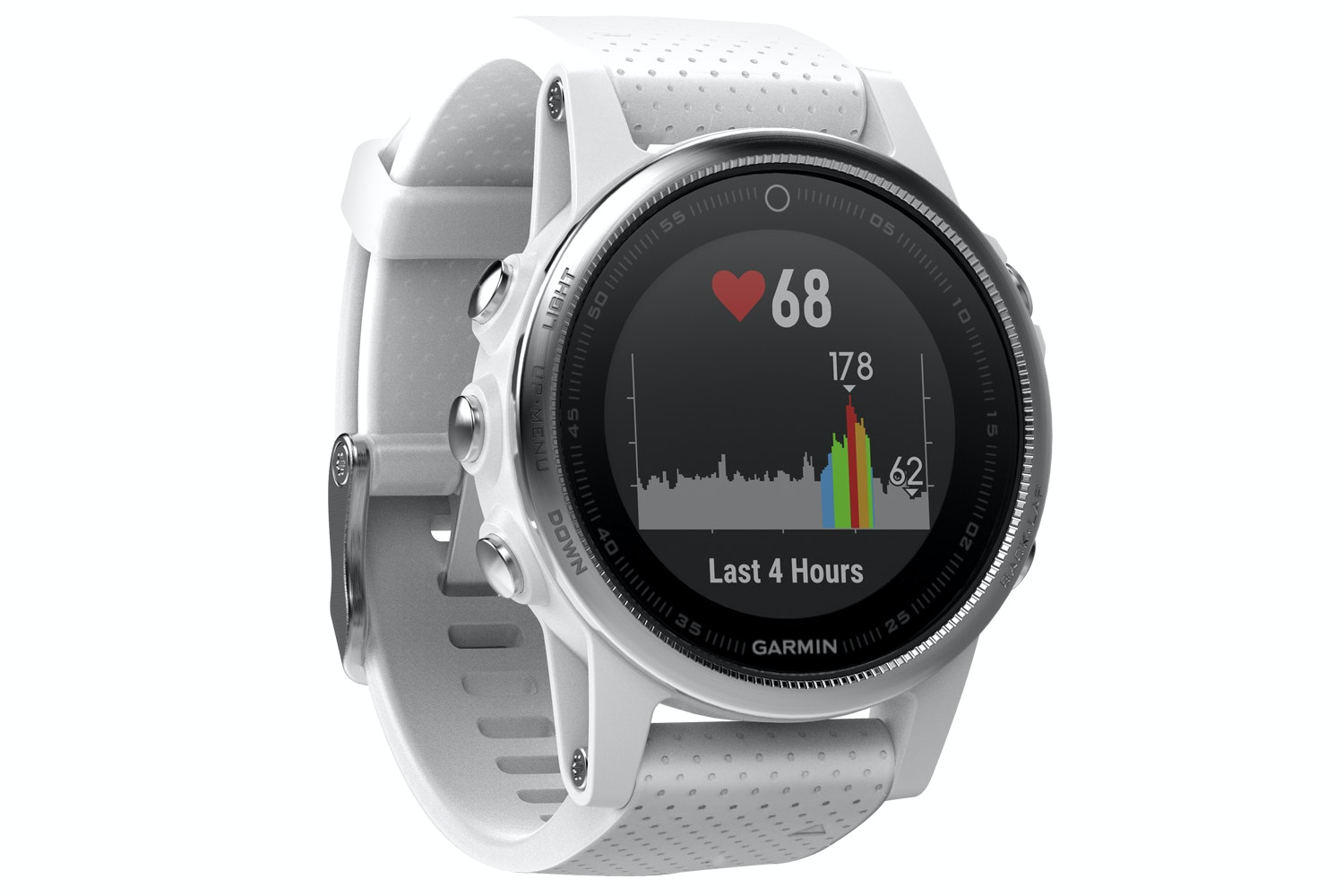 Garmin Fenix 5S Sports Watch | White & Carrara White Band