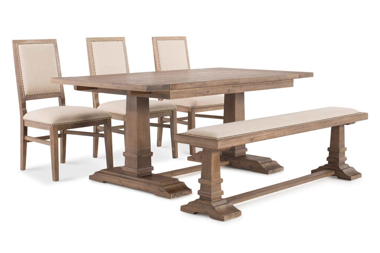Larissa Dining Set With Bench And 3 Chairs