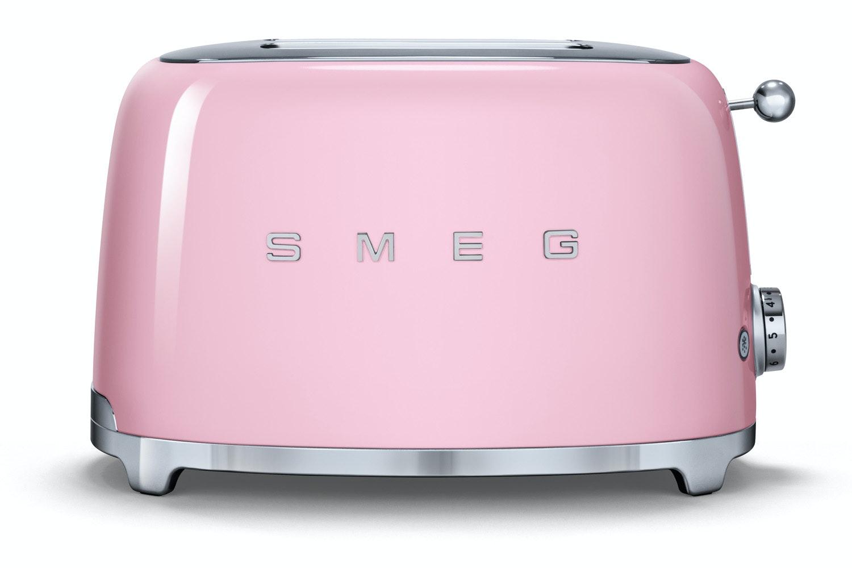 Smeg Retro 2 Slice Toaster Tsf01pkuk Pink Ireland