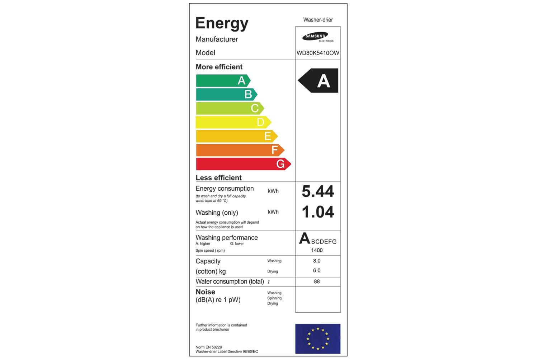 Samsung 8kg/6kg Washer Dryer | WD80K5410OW/EU