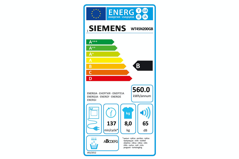 Siemens 8kg Condenser Tumble Dryer | WT45N200GB